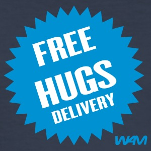 Dark navy free hugs delivery by wam T-Shirts - Männer Slim Fit T-Shirt