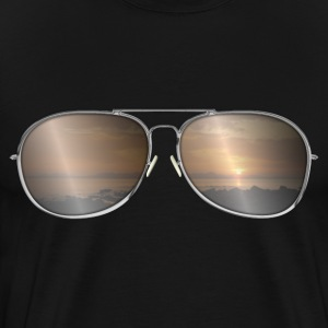 Sunglasses with sunset T-Shirts - Men's Premium T-Shirt