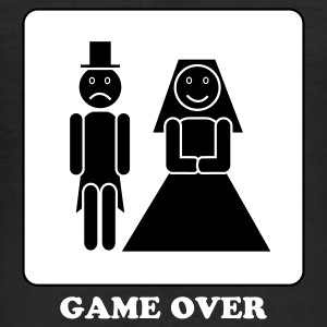 Zwart Game over T-shirts - slim fit T-shirt