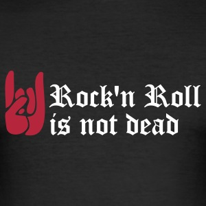 Noir rock'n roll is not dead T-shirts - Tee shirt près du corps Homme