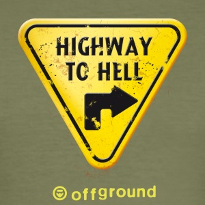 offground triangle highway to hell - Männer Slim Fit T-Shirt