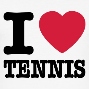 Weiß I love tennis DE T-Shirts - Männer Slim Fit T-Shirt