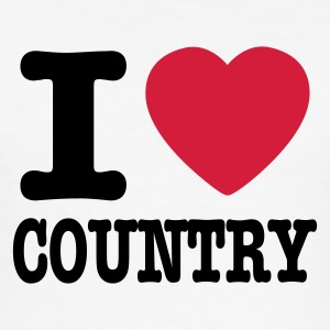 Vit i love country / i heart country T-shirts - Slim Fit T-shirt herr