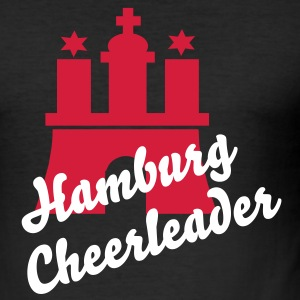 Hamburg Cheerleader T-Shirt - Männer Slim Fit T-Shirt