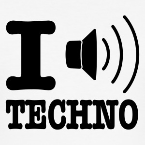 Hvit I love techno / I speaker techno T-skjorter - Slim Fit T-skjorte for menn