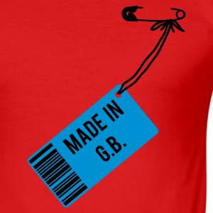 Rot Made in Great Britain T-Shirts - Männer Slim Fit T-Shirt