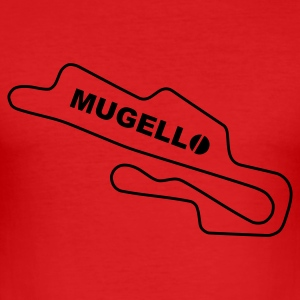 Race Track Mugello Ducati Rot/Schwarz - Men's Slim Fit T-Shirt