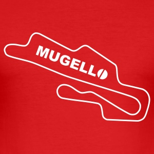 Race Track Mugello Ducati Rot/Weiss - Men's Slim Fit T-Shirt