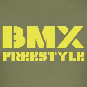 Olive BMX Freestyle Men's T-Shirts - Men's Slim Fit T-Shirt