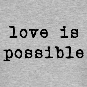 Grigio melange love is possible T-shirt - Maglietta aderente da uomo