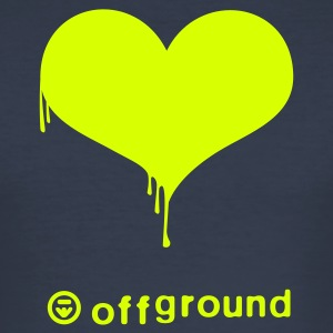 offground bleeding heart - Männer Slim Fit T-Shirt