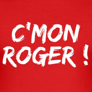 Rouge come on roger T-shirts - Tee shirt près du corps Homme