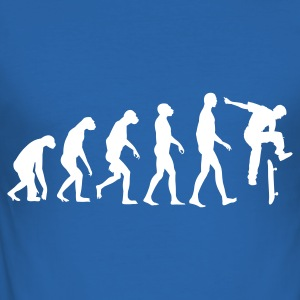 Royalblau Evolution Skateboarding T-Shirts - Männer Slim Fit T-Shirt