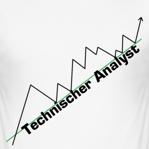 Technischer Analyst - Shirt - Männer Slim Fit T-Shirt