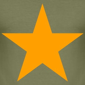 Star! (olive) - Men's Slim Fit T-Shirt