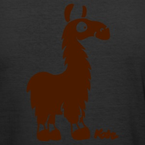 äggul Lama in Atacama (2c) T-shirts - Slim Fit T-shirt herr