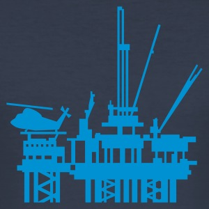 Dark navy Ölplattform / offshore oil rig (1c) Men's T-Shirts - Men's Slim Fit T-Shirt