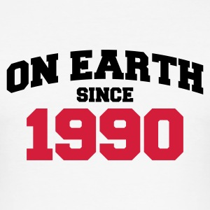 Weiß on earth 1990 T-Shirts - Männer Slim Fit T-Shirt