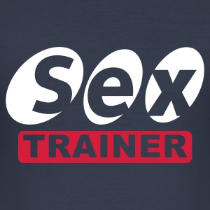 Dark navy sex trainer T-Shirts - Männer Slim Fit T-Shirt