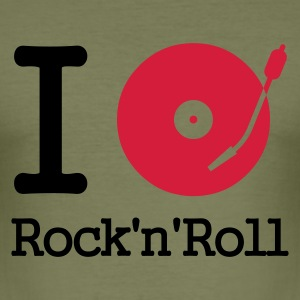 :: I dj / play / listen to rock & roll :-: - Men's Slim Fit T-Shirt