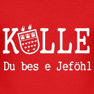 T-Shirt KÖLLE Du bes e Jeföhl - red - Männer Slim Fit T-Shirt
