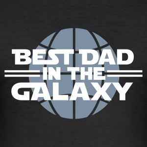 Black Best dad in the galaxy Men's T-Shirts - Men's Slim Fit T-Shirt