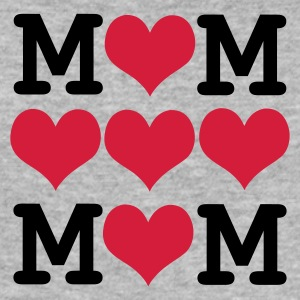 Gråmelerad mors dag - loved mom T-shirts - Slim Fit T-shirt herr