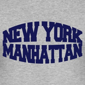 Gråmelert new york manhattan T-skjorter - Slim Fit T-skjorte for menn