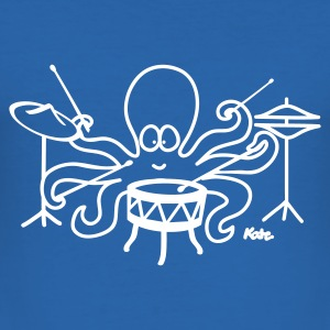 Kongeblå Octopus  T-shirts - Herre Slim Fit T-Shirt