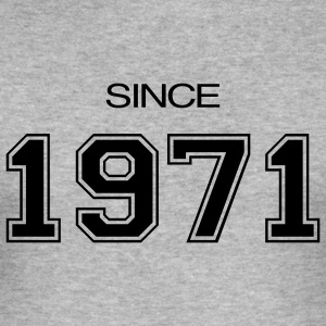 Heather grey birthday gift 1971 Men's T-Shirts - Men's Slim Fit T-Shirt