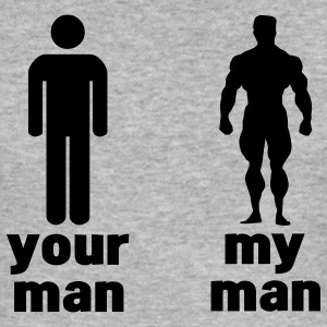 your man vs my man T-Shirts - Men's Slim Fit T-Shirt