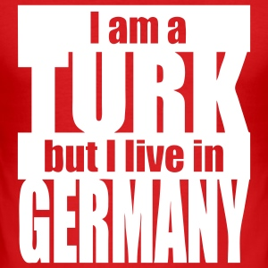 i am a Turk but i live in Germany - Männer Slim Fit T-Shirt