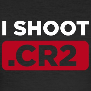 I SHOOT CR2 Men Black - Männer Slim Fit T-Shirt