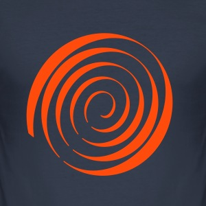 Psychedelic Blacklight T-Shirt Spiral - Männer Slim Fit T-Shirt