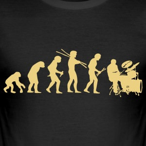 Evolution Drums - Männer Slim Fit T-Shirt