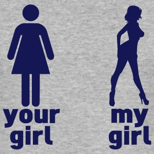 your girl vs my girl (choose DIGITAL DIRECT) T-shirts - slim fit T-shirt