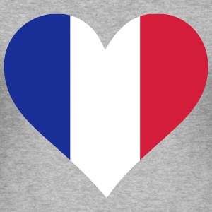 Heart Love France (3c) T-shirts - Herre Slim Fit T-Shirt