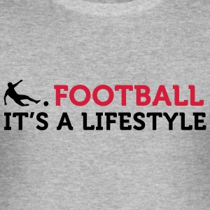 Football - A Lifestyle (2c) T-Shirts - Männer Slim Fit T-Shirt
