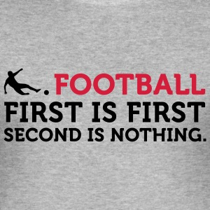 Football - Second is Nothing (2c) T-shirts - Herre Slim Fit T-Shirt