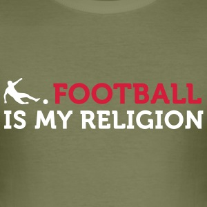 Football - My Religion (2c) T-Shirts - Men's Slim Fit T-Shirt