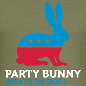 Party Bunny (3c) T-Shirts - Männer Slim Fit T-Shirt