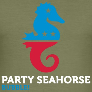 Party Seahorse (3c) T-shirts - Slim Fit T-shirt herr