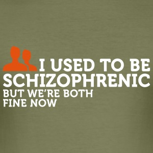 I used to be schizophrenic 2 (2c) T-shirts - Slim Fit T-shirt herr