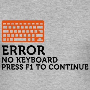 Error No Keyboard 2 (2c) T-shirts - Herre Slim Fit T-Shirt