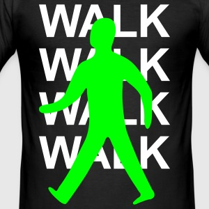 Green man walk! - Men's Slim Fit T-Shirt
