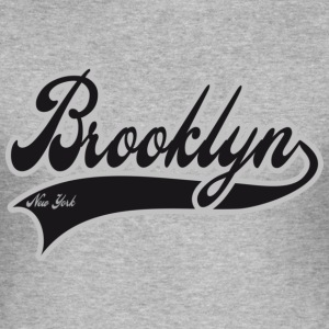 brooklyn new york Camisetas - Camiseta ajustada hombre