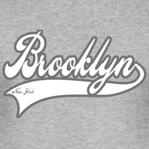 brooklyn new york T-shirt - Maglietta aderente da uomo