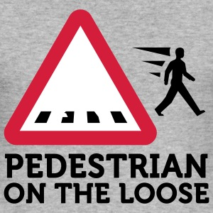 Pedestrians on the Loose (3c) T-Shirts - Men's Slim Fit T-Shirt