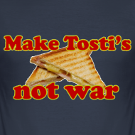 Ontwerp ~ Funny T-shirt Make Tosti's, not war!