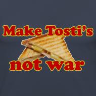 Ontwerp ~ Funny T-shirt Make Tosti's, not war!
